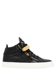 Giuseppe Zanotti 20Mm Bangle Embossed Leather Sneakers