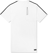 Mhi White Coolmesh Mid Slouch T Shirt