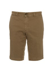 Moncler Classic Stretch Cotton Chino Shorts Khaki