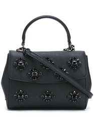 Michael Michael Kors Floral Embellished Small Tote Black