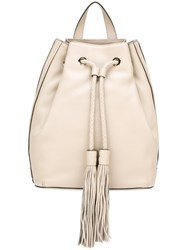 Rebecca Minkoff Tassel Detail Backpack Nude And Neutrals