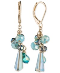 Lonna And Lilly Gold Tone Blue Stone Shaky Drop Earrings