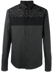 Wooyoungmi Embroidered Panel Shirt Black