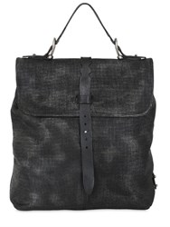 A.S.98 Embossed Leather Backpack