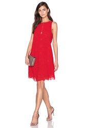 1.State Trapeze Dress Red