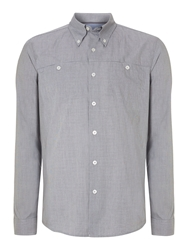 Peter Werth Perris Rolled Button Down Shirt Grey