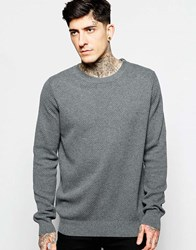 Lindbergh Jumper With Textured Knit And Zip Shoulder Grey