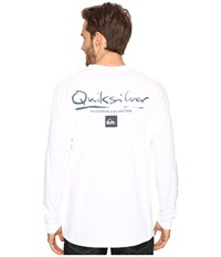 Quiksilver Gut Check Pocket Long Sleeve Tee White Men's T Shirt