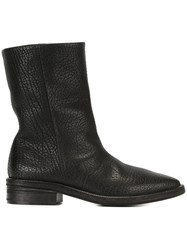 Marsell Lizard Effect Boots Black