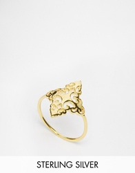 Asos Gold Plated Sterling Silver Filigree Ring