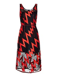 Christopher Kane Lightening Bolt Lace Midi Dress