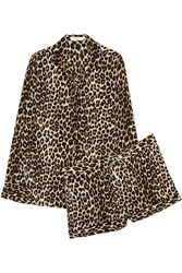 Equipment Lilian Leopard Print Washed Silk Pajama Set