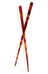 France Luxe L. Erickson Hair Stick Pairs Brown Tortoise