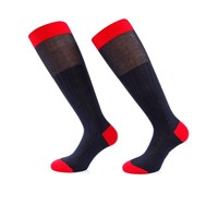 Bruce Field Men's Knee Socks 100 Cotton Lisle Navy And Red