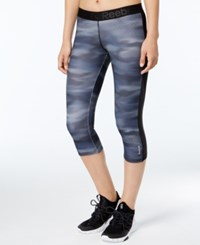 Reebok Speedwick Printed Capri Leggings Alloy Black