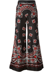 Moschino Paisley Flared Trousers Black