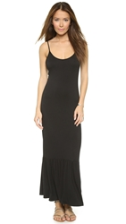 Bop Basics Tyler Long Ruffle Dress Black