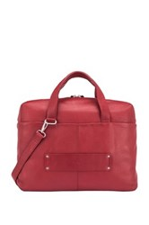 Delsey Pernety Leather Horizontal 15.6' Laptop Tote Red