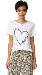 South Parade Love Heart Tee White