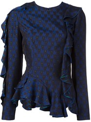 Lanvin Rear Cut Out Jumper Blue