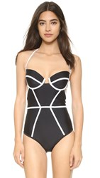 Chromat X Bustier Suit Black White