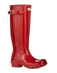 Hunter Original Gloss Tall Boots Red