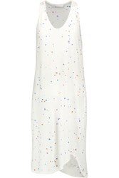 Kain Label Everly Paint Splattered Cotton And Modal Blend Dress White