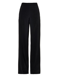 Oscar De La Renta Wide Leg Stretch Cady Trousers