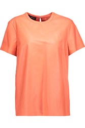Proenza Schouler Leather T Shirt Coral