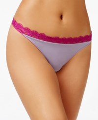 Heidi Klum By Geometric Lace Thong Only At Macy's H37 1167B Purple Ash Wild Aster
