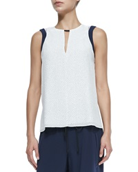 Rag And Bone Rag And Bone Lana Sleeveless Dot Print Top Large
