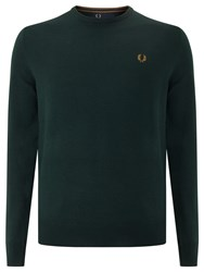 Fred Perry Classic Crew Neck Knit Jumper British Racing Green