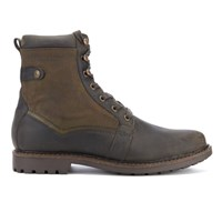 Barbour Men's Cleasby Leather Waterproof High Derby Boots Olive Green