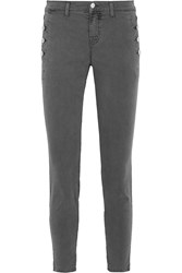 J Brand Zion Stretch Cotton Twill Skinny Pants Gray