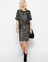 Religion All Over Sequin Pencil Skirt Co Ord Silver