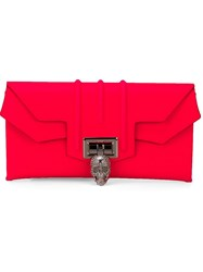 Philipp Plein 'Neon Highway' Clutch Pink And Purple