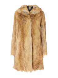 Biba Faux Fur Fox Style Luxe Coat Multi Coloured