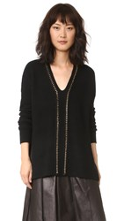 Derek Lam Sweater With Chain Detail Black Gold
