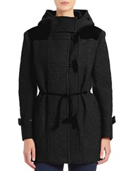 Hunter Hooded Toggle Front Coat Black