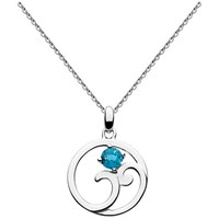 Kit Heath Norah Shine London Topaz Pendant Necklace Silver Blue