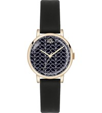 Orla Kiely Patricia Leather Watch Black