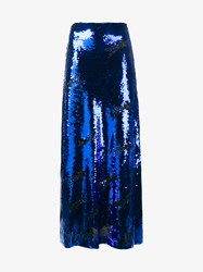 Filles A Papa Mila Sequin Embellished Maxi Skirt Blue Black