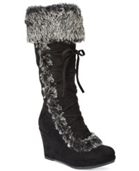 Report Pearson Cold Weather Wedge Boots Women's Shoes Black
