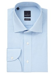 Daniel Hechter Gingham Tailored Fit Shirt Blue White