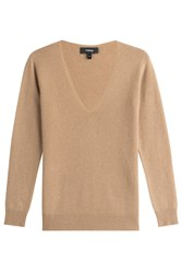 Theory Cashmere Pullover Beige