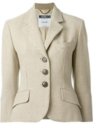 Moschino Vintage Dotted Jacket Nude And Neutrals