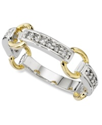 Macy's Charter Club Ring Cubic Zirconia Circle Band Gold Slv