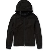 Berluti Slim Fit Suede Hooded Bomber Jacket Black