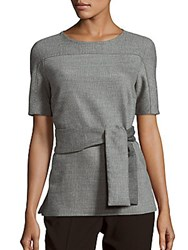 Hugo Boss Itoni Waist Tie Top Chinchilla