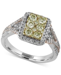 Effy Collection Canare By Effy Diamond Tri Color Ring 1 Ct. T.W. In 14K White Yellow And Rose Gold Tri Tone